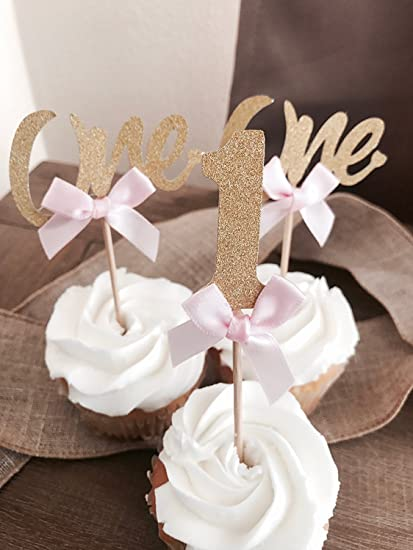 Amazon Package Value First Birthday Cupcake Toppers Party