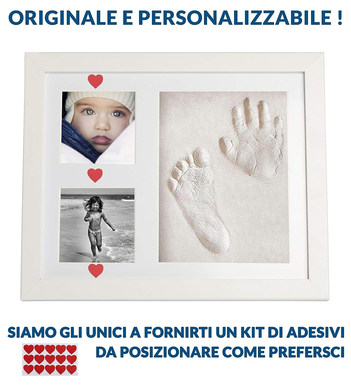 M. 3 Bilderrahmen Gipsabdruck Baby Fuß Hand Kind Fotorahmen Taufe Abdruck Set m