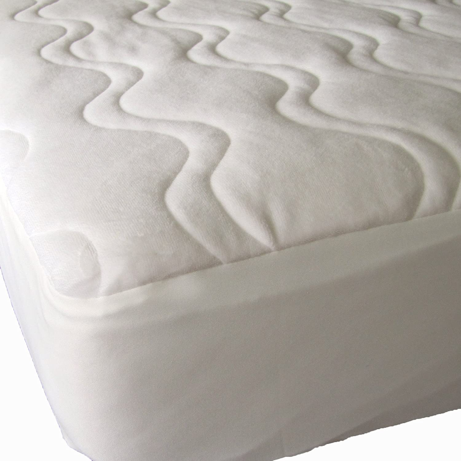 Amazon 40 Winks Quilted Organic Cotton Velour Mattress Pad