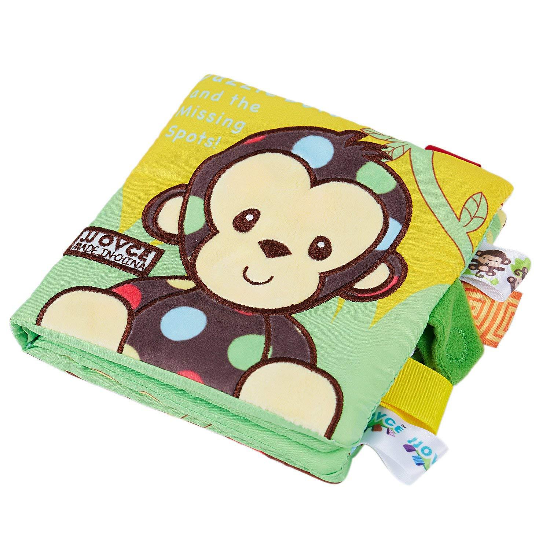 TOOGOO Libros Blandos Beb/é Temprano Cognitivo Desarrollo Mis Libros Tranquilos Beb/é Buenas Noches Despliegue Educativo Tela de Libro Libro de Actividades Mono
