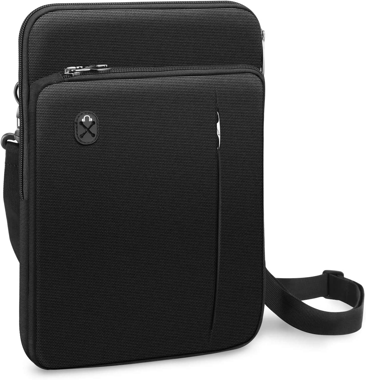"FINPAC 12.9-13 Inch Tablet Laptop Sleeve Case, Briefcase Shoulder Bag for 12.9"" New iPad Pro (2018-2020) / MacBook Air 13 A2179 A1932 / MacBook Pro 13 (2016-2020) / Surface Pro X/7/6/5 (Black)"