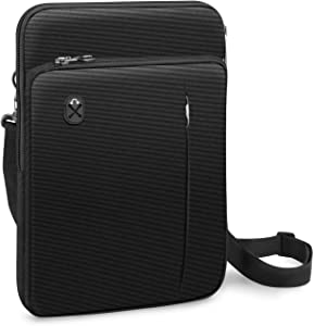 """FINPAC 12.9-13 Inch Tablet Laptop Sleeve Case, Briefcase Shoulder Bag for 12.9"""" New iPad Pro (2018-2020) / MacBook Air 13 A2179 A1932 / MacBook Pro 13 (2016-2020) / Surface Pro X/7/6/5 (Black)"""