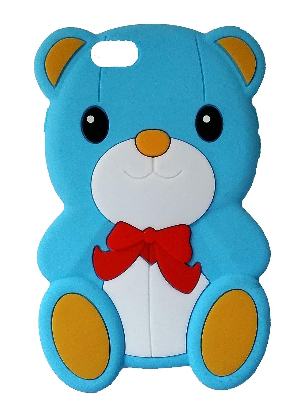 SKS Distribution® Azul Claro Silicona Corbata de Lazo Oso Bow Bear ...