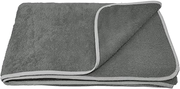HOMELEVEL - Toalla de rizo XXL para parejas y familias, en 3 tamaños, 100 % algodón, para baño, tumbarse, playa, algodón, antracita, 120 x 200 cm: Amazon.es: Hogar