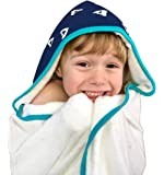 Toddler to Kids Hooded Towel - Extra Soft & Thick 500GSM Bamboo Terry Hypoallergenic & Antibacterial Oversized with 2 Layer Hood for Warmer Girls & Boys After Bath, Beach, Pool, or Swim
