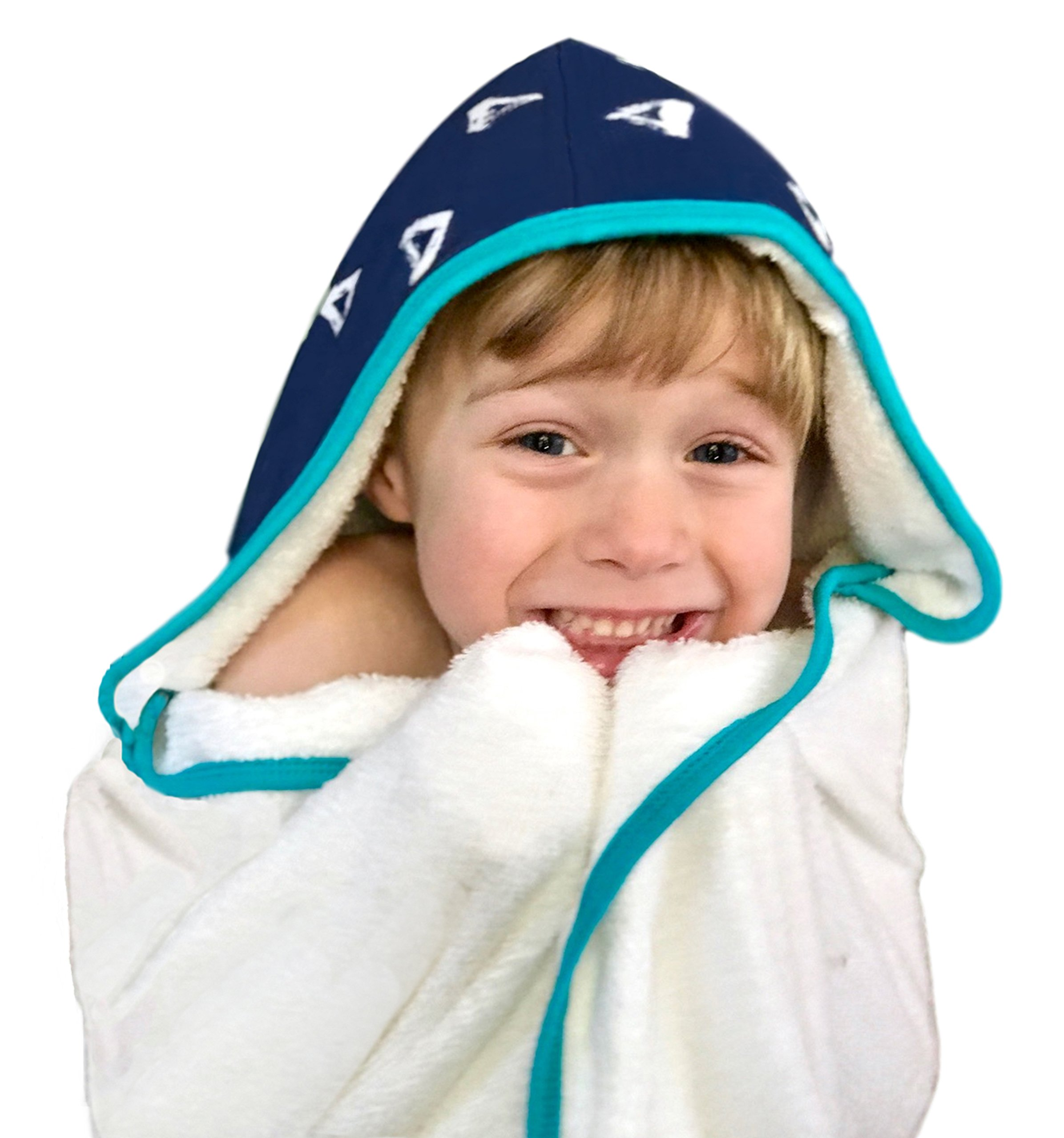 Kids Hooded Bath Towel | Extra Soft & Thick 500 GSM Bamboo Terry | Hypoallergenic & Eco-Friendly | Extra Large Toddler to Kids Bath Towel with Hood for Boys & Girls After Beach, Pool, or Swim by Land of the Wee