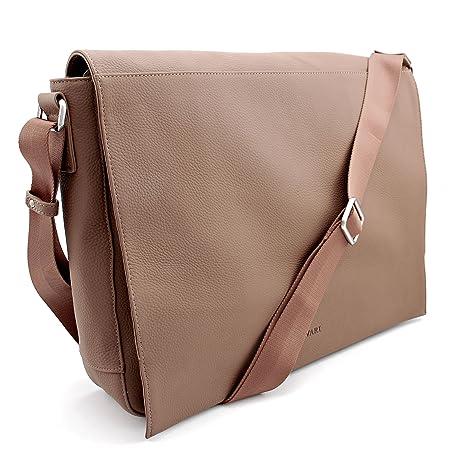 BOVARI Messenger Bag Shoulder Bag Laptop Bag 39x31x9 cm Model Metz - limited  edition premium leather - whiskey brown: Amazon.co.uk: Shoes & Bags