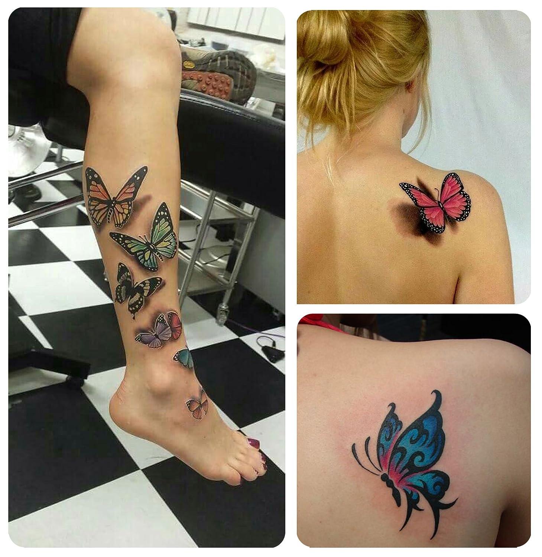 COKOHAPPY Temporales Tatuaje 8 Diferente hoja Rosa Peonía Flor ...