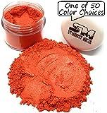 颜料粉 Mica Powder 化妆品级珍珠颜料,纤细彩,环氧树脂,肥皂制作,金属环氧彩色 Stardust Micas 化妆品米娜粉 Orange Saffron 10 Gram Jar SDM-O1714