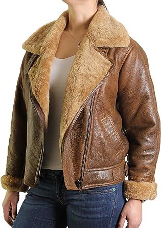 Brandslock Ladies Genuine Shearling Sheepskin Leather Duffle Coat Long Designer