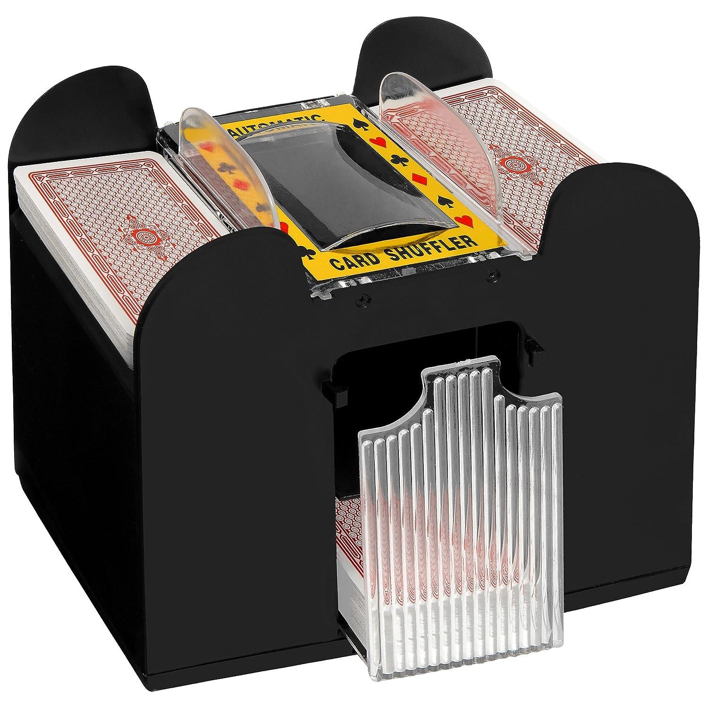 Geschenkbox Elektrische Kartenmischmaschine, batteriebetrieben, für 4 Oder 6 Decks (6 Decks) Geschenkbox GmbH