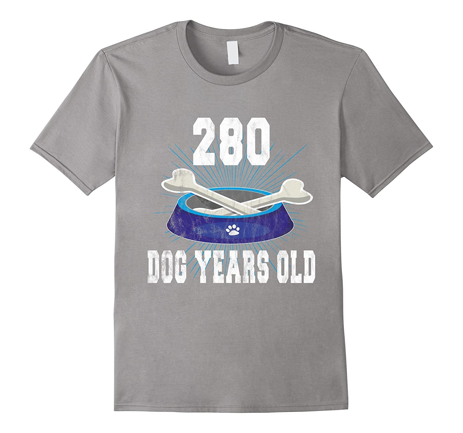 280 Dog Years Old | Funny 40th Birthday Tee For Dog Lovers-TH