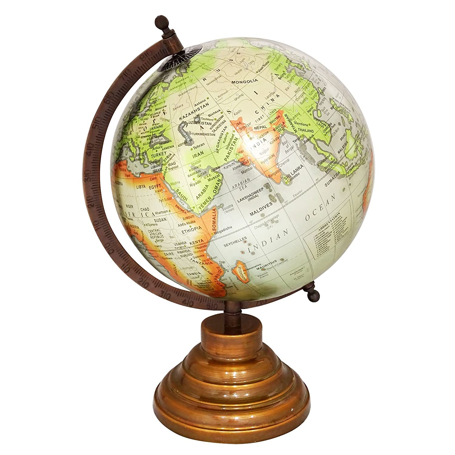 8  grau Unique Antiique Look Geographic Educational Globe with with with Stand - Perfect for Home, Office & Classroom By Globes Hub caeab9