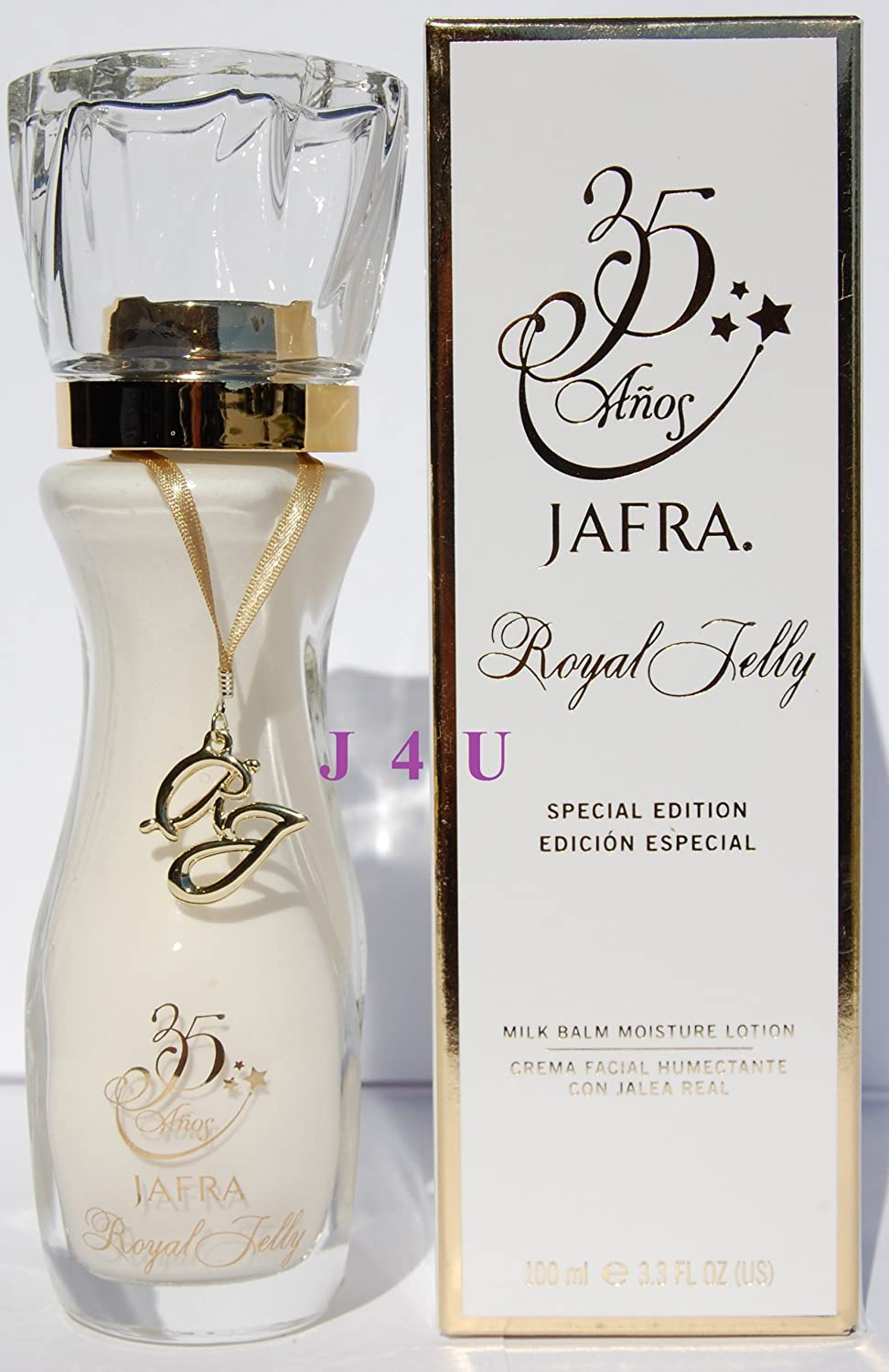 Jafra Royal Jelly Milk Balm Moisture Lotion 33 Fl Oz Member Original Formula Special Glass Bottle 35 Years Anniversary Edition