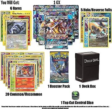 Pokemon GX garantizado con Paquete de Refuerzo, 6 Cartas Raras, 5 ...