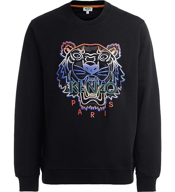 Long Sleeve Black Sweat Kenzo Mens Tiger Sweatshirt