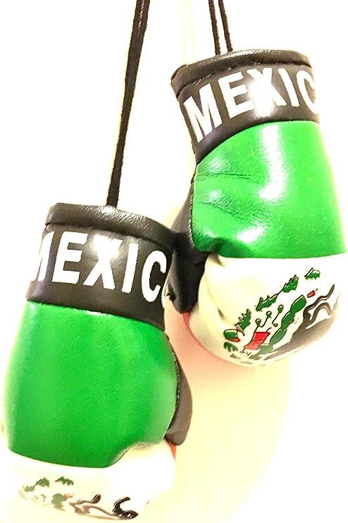 Guantes de boxeo con bandera de México para coches, SUV, camiones, furgonetas, etc. Mini banderas de coche, guantes de boxeo, diseño de espejo retrovisor, ventana o casa orgullo mexicano: Amazon.es: Juguetes y