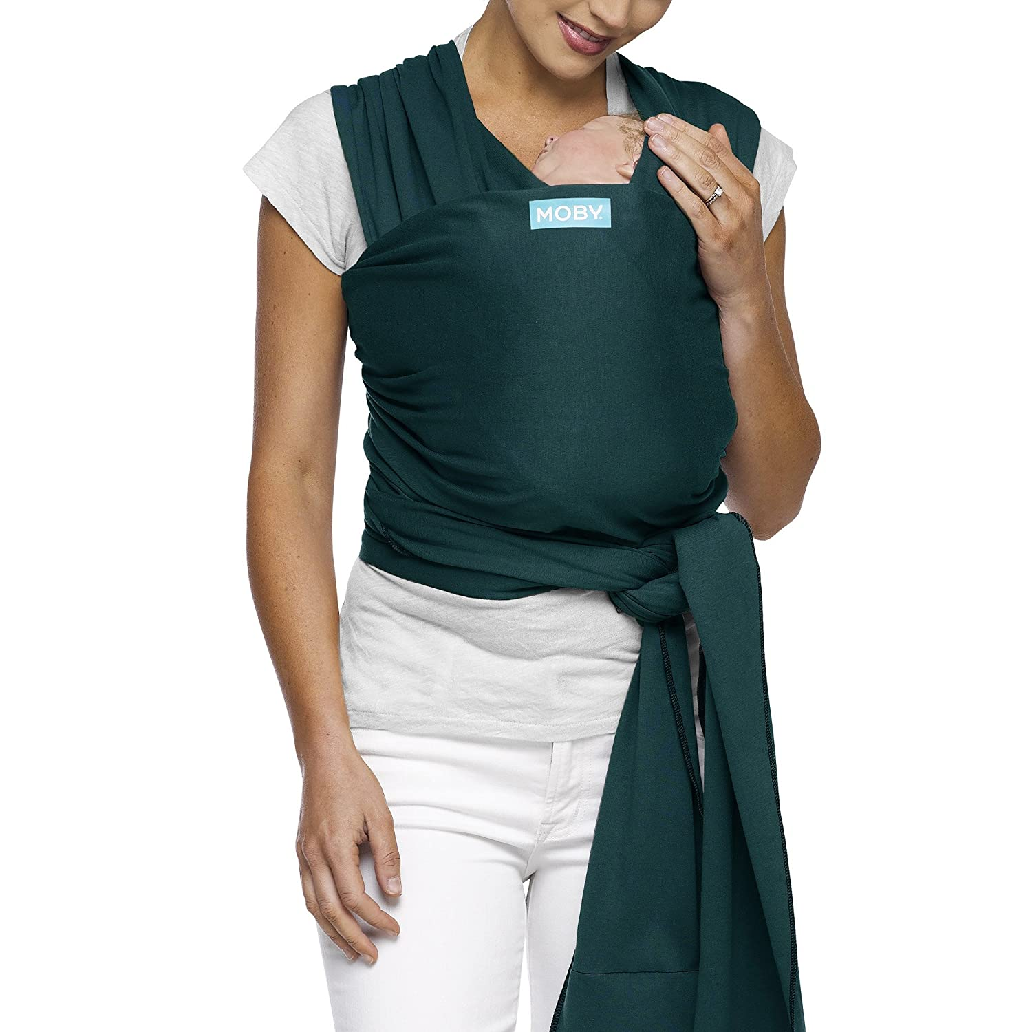 5b413cc8c1e Amazon.com   Moby Classic Baby Wrap (Pacific) - Baby Wearing Wrap For  Parents On The Go - Baby Wrap Carrier For Newborns