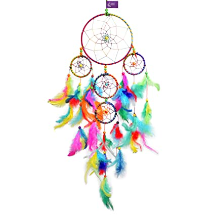 Asian Hobby Crafts Dream Catcher Wall Hanging, Multi Color (55x15cm)