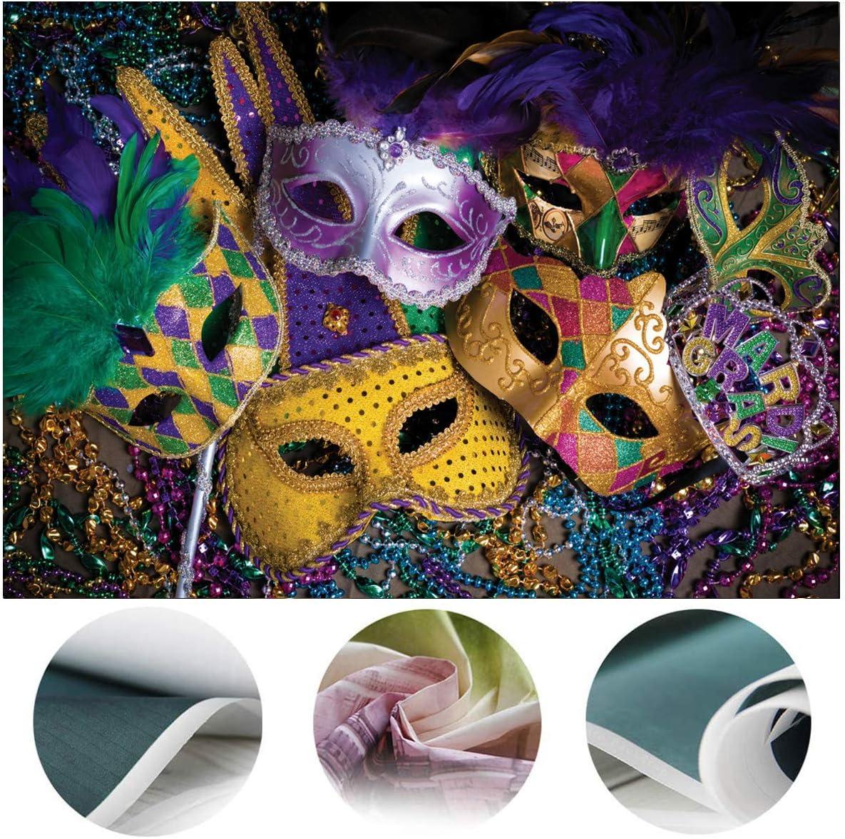 Party Bird Mardi Gras Colors Wand Masquerade Party Mask