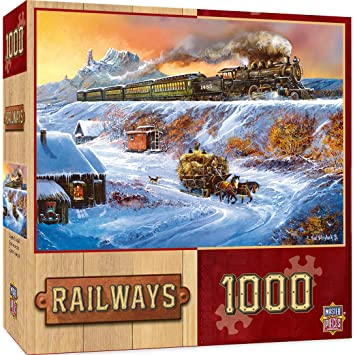 MasterPieces Railways Coyote Special Jigsaw Puzzle, Art by Ted Blaylock, 1000-Piece