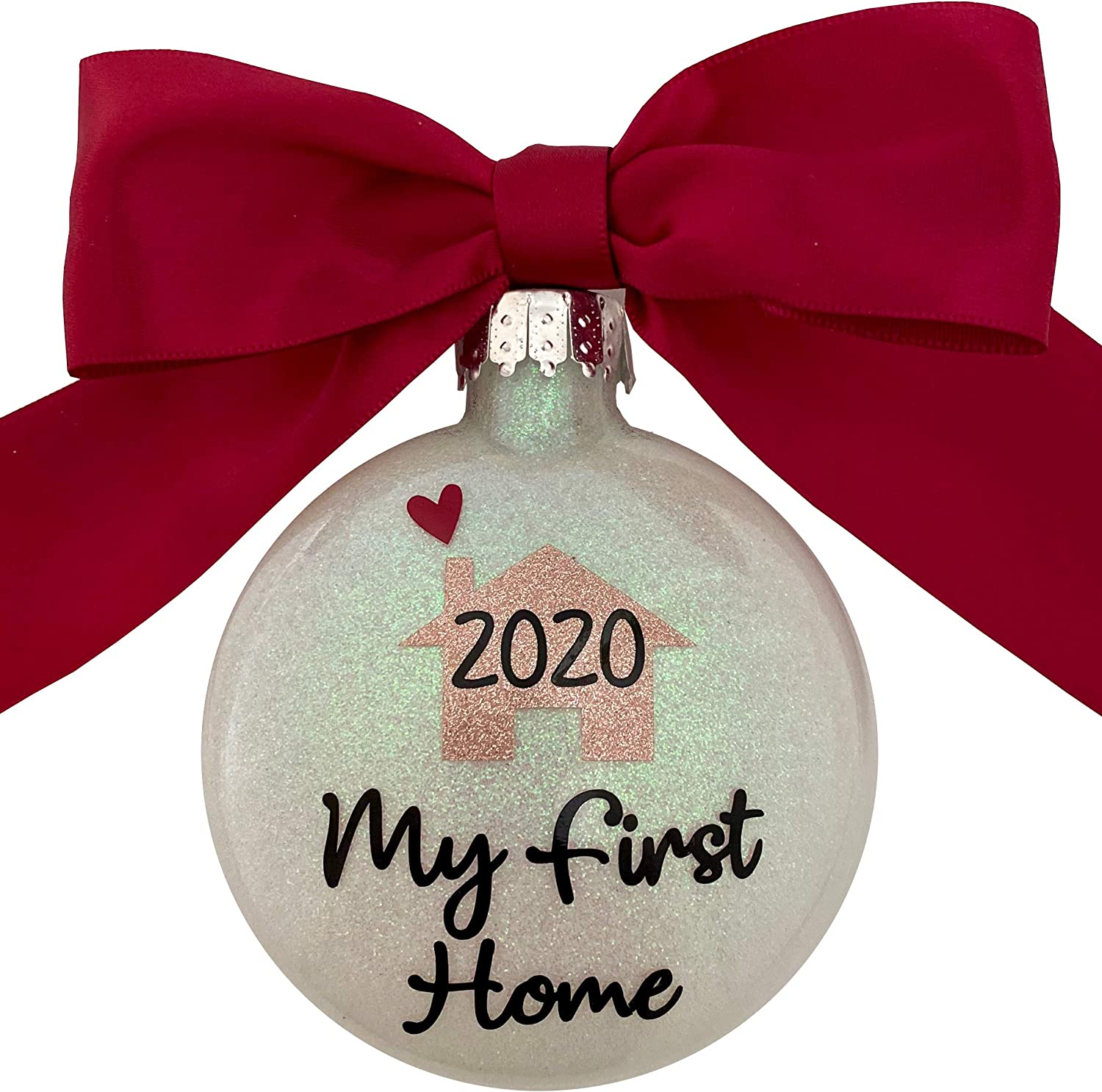 My First Home 2020 Handcrafted in The USA Glitter Christmas Ornament - Great Real Estate Agent or House Warming Gift