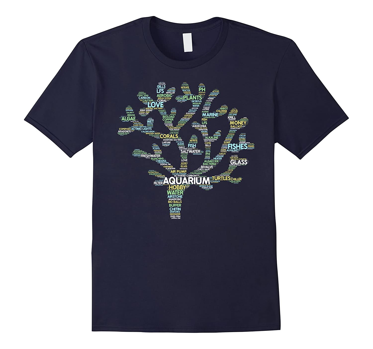 Aquarium Shirt: Word Cloud Art Funny Aquaristics Love Gift-CL