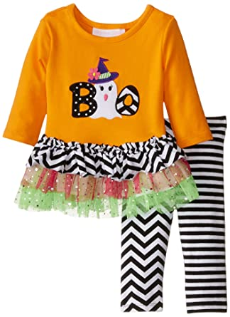9d97385179381 Amazon.com: Bonnie Baby Baby Girls Halloween Appliqued Legging Set: Clothing