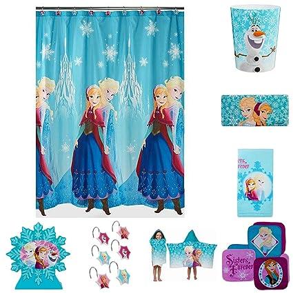 Delicieux Disney Frozen Anna U0026 Elsa U0026quot;Sisters Foreveru0026quot; Complete 8 Piece  Bathroom Accessories Set