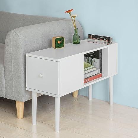 SoBuy® Tavolino da divano,mobiletti da soggiorno o letto,con ...