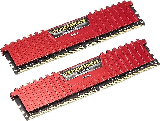 أداة فينجينس ال بي اكس من كورسير سعة 8 جيجابايت (2×4 جيجابايت) دي دي ار 4 3200 سي 16 1.35 فولت - لون أحمر