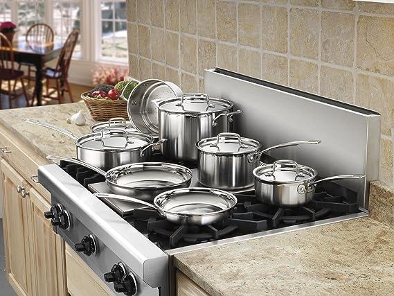 Cuisinart MCP22 - 24 N MultiClad Pro sartén inoxidable: Amazon.es: Hogar