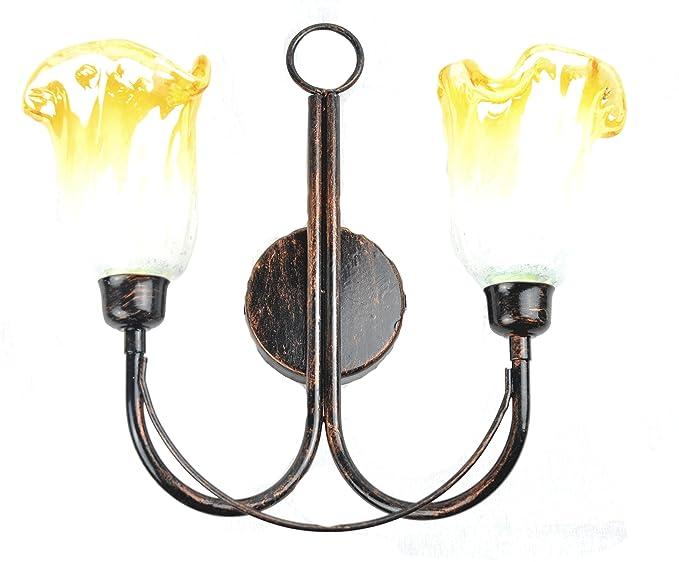 Lorenz ferart applique a luci per interno in arte povera