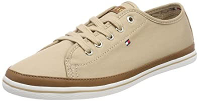 Textile Light Weight Sneaker, Sneakers Basses Femme, Blanc (White 100), 40 EUTommy Hilfiger