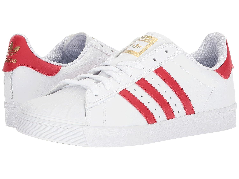 (アディダス) adidas メンズスニーカーカジュアルシューズ靴 Superstar Vulc ADV Footwear White/Scarlet/Gold Metallic Men's 12.5 (30.5cm) Medium B07BQ63DKQ  - -