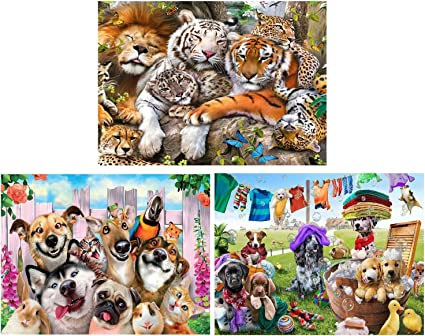 5D Full Drill Diamond Painting DIY Tiger Embroidery Cross Stitch Kits Wall Decor