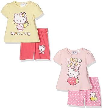 291ddb12dd6c FABTASTICS Baby Girls  Pyjama Set Hello Kitty (Pack of 2 ...