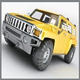 Off-road racing jeep car