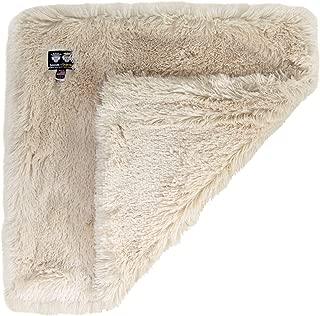 "product image for Bessie and Barnie Ultra Plush Blondie Luxury Shag Pet Blanket, 36"" L X 28"" W X 1"" H, Medium, White"