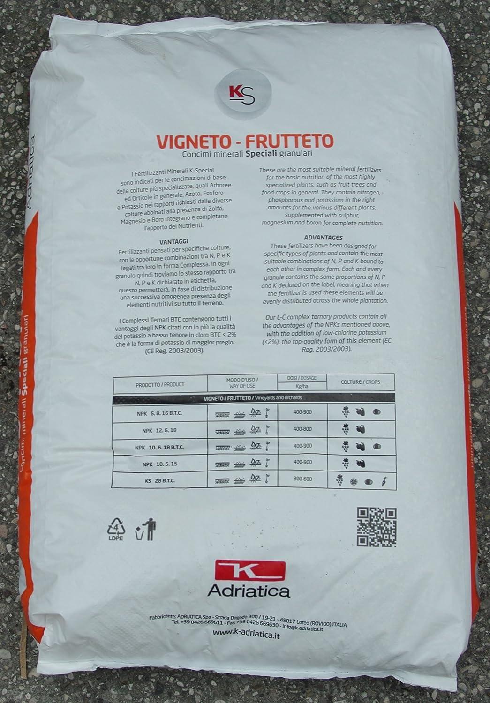 Kappa 28/8 - Abono con bajo contenido en cloro a base de potasio (28%), magnesio (8%) y azufre (23%), bolsa de 25 kg: Amazon.es: Jardín