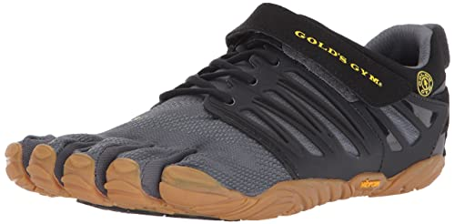 Vibram Mens V-Train Golds Gym Cross Trainer Black/Grey/Honey 40 D
