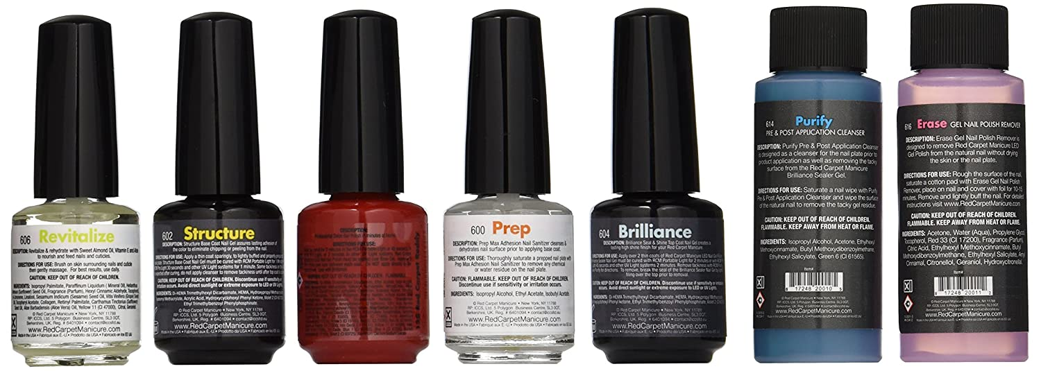 Amazon.com : Red Carpet Manicure Pro 45 Starter Kit : Gel Nail Kit ...
