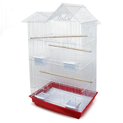 BPS Jaula Grande para Pájaro Pajarera Periquito Canarios con Saltado Perchas para Descanso Comedero Color al Azar (Modelo 3: 85 x 47.5 x 36 cm) ...