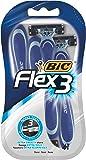 BIC Flex 3, Rasoi da uomo, 4 pacchetti
