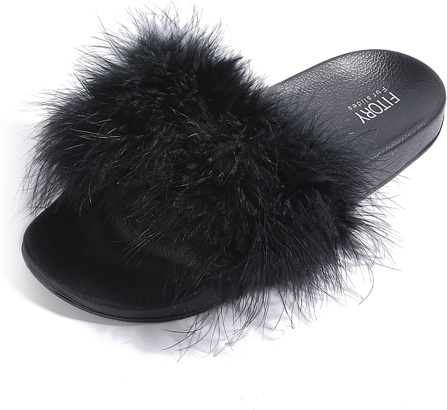Faux Fur Comfort Fuzzy Slippers