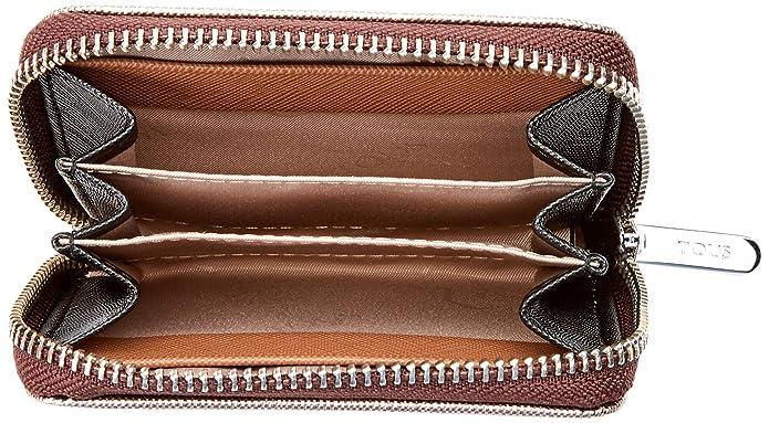 Tous Dubai Saffiano - Monedero para Mujer, Multicolor (Bronce Topo 695930007), 10 x 8 x 2.5 cm