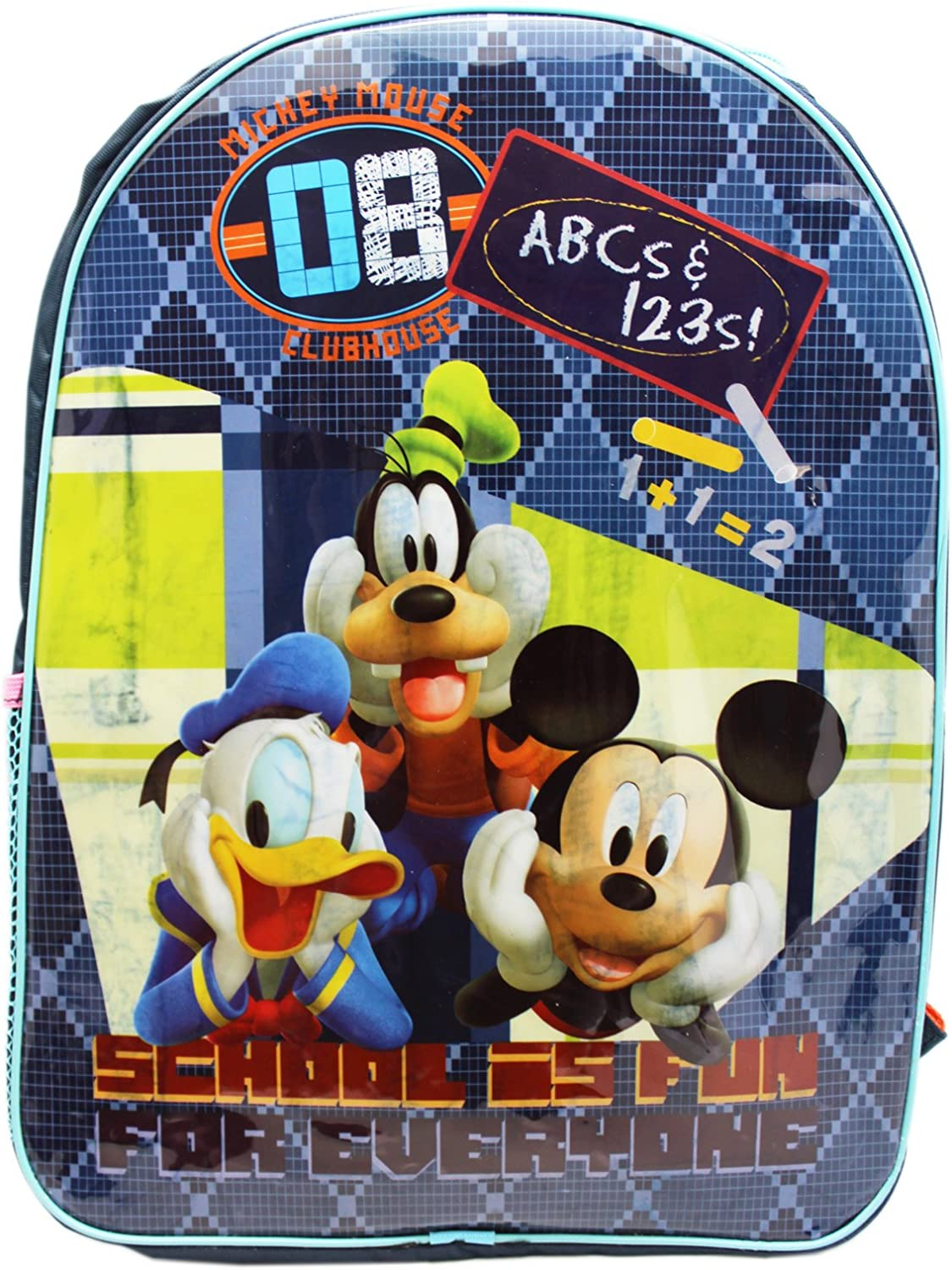 and Goofy Basic Kids Backpack Disneys Mickey Mouse Clubhouse Mickey Donald 15in