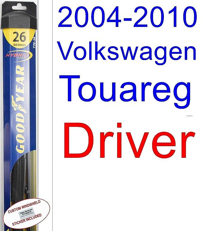 Amazon.com: 2004-2010 Volkswagen Touareg Replacement Wiper Blade Set/Kit (Set of 2 Blades) (Goodyear Wiper Blades-Hybrid) (2005,2006,2007,2008,2009): ...