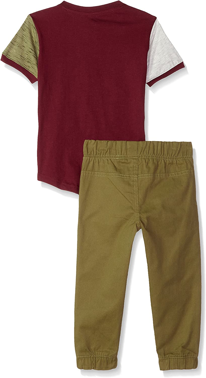 Beverly Hills Polo Club Boys Short Sleeve Top /& Twill Pant Set