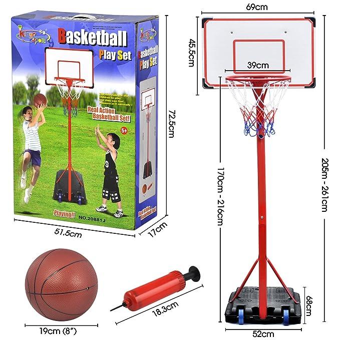 Canasta de baloncesto Outdoortips, tablero de baloncesto con ...